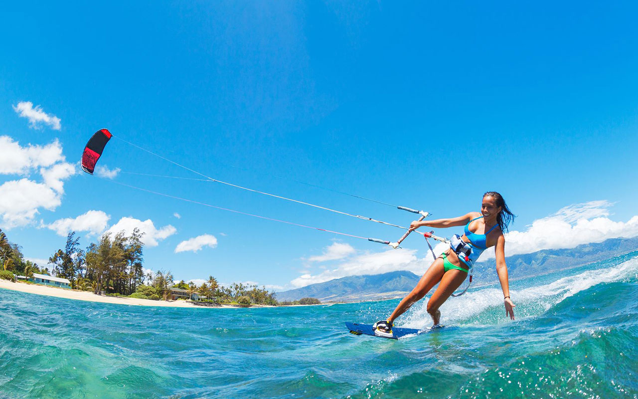 Put kitesurfing on your list of Maui activities